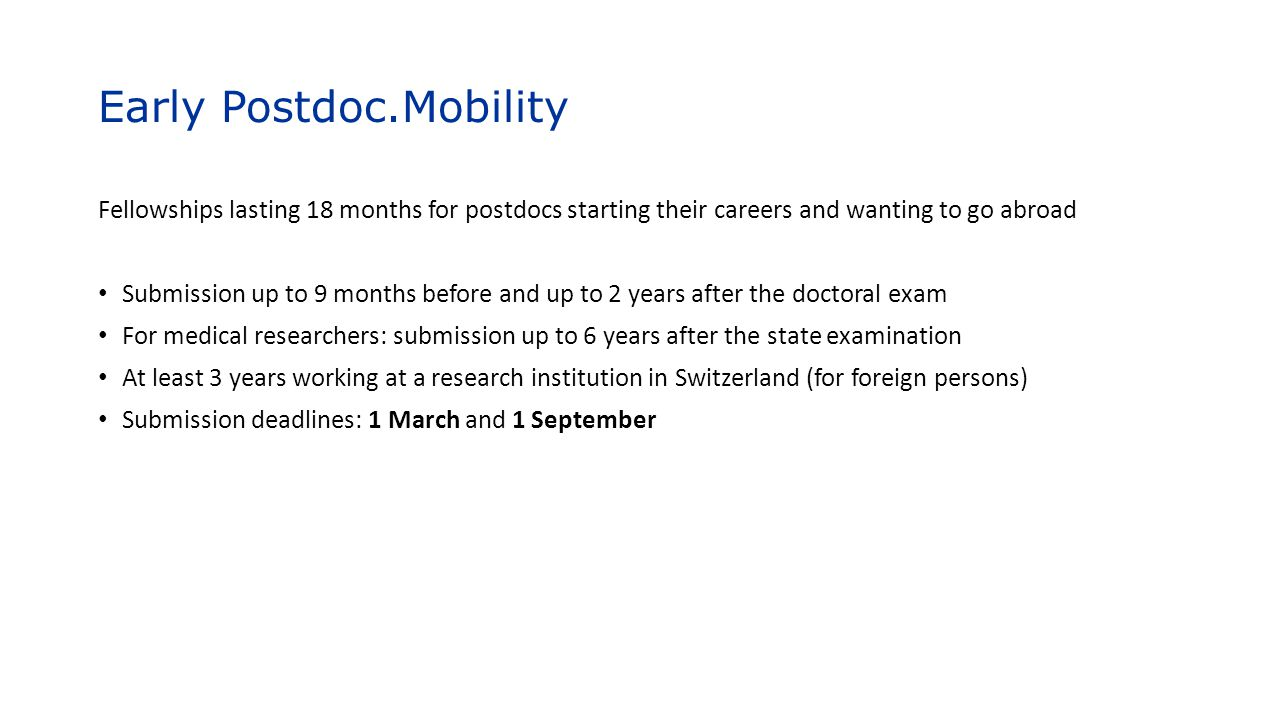 Early Postdoc.Mobility