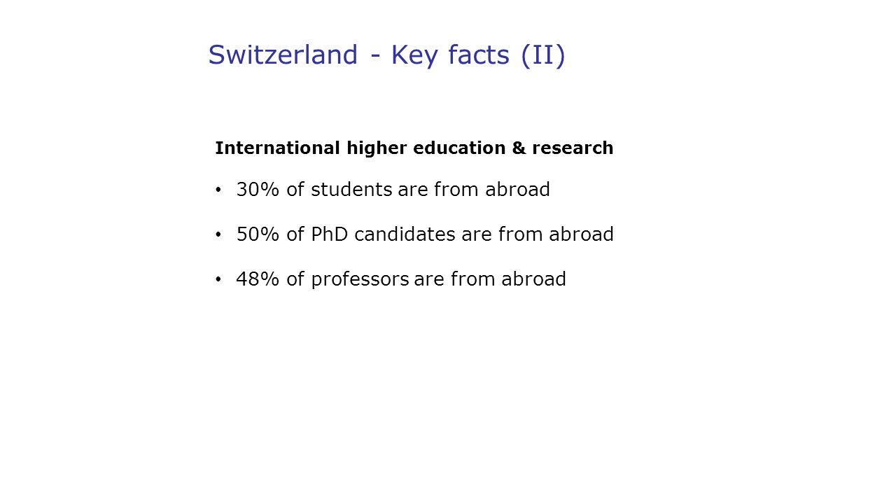 Switzerland - Key facts (II)