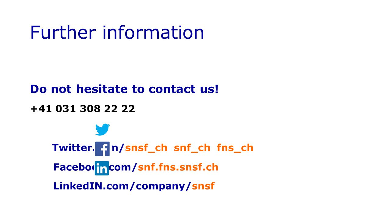 Further information Twitter.com/snsf_ch snf_ch fns_ch