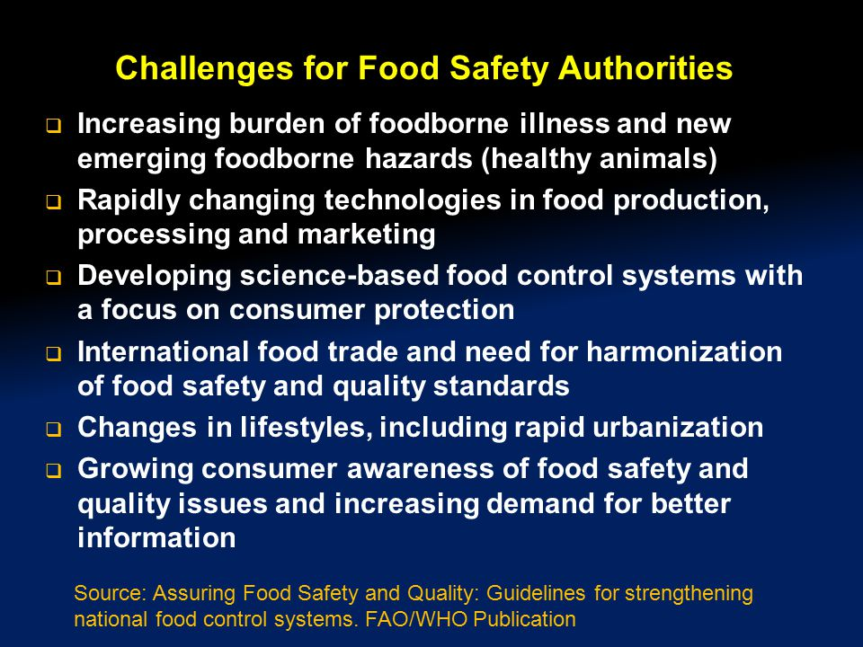 Challenges for Food Safety Authorities