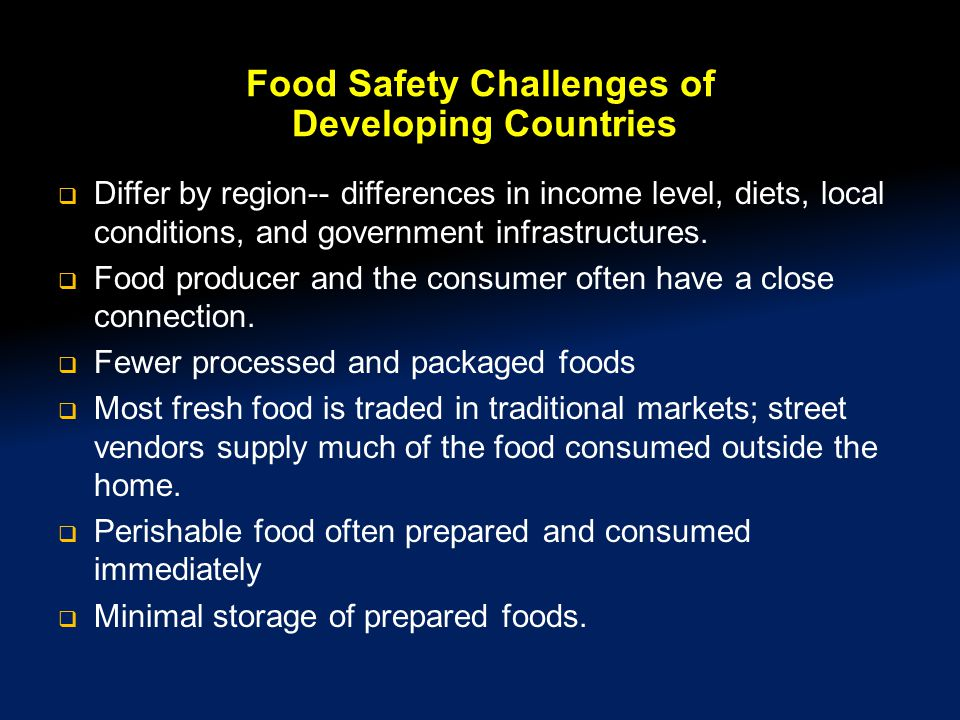 Food Safety Challenges of Developing Countries
