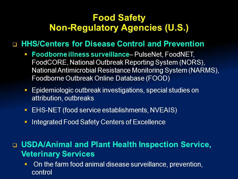 Food Safety Non-Regulatory Agencies (U.S.)