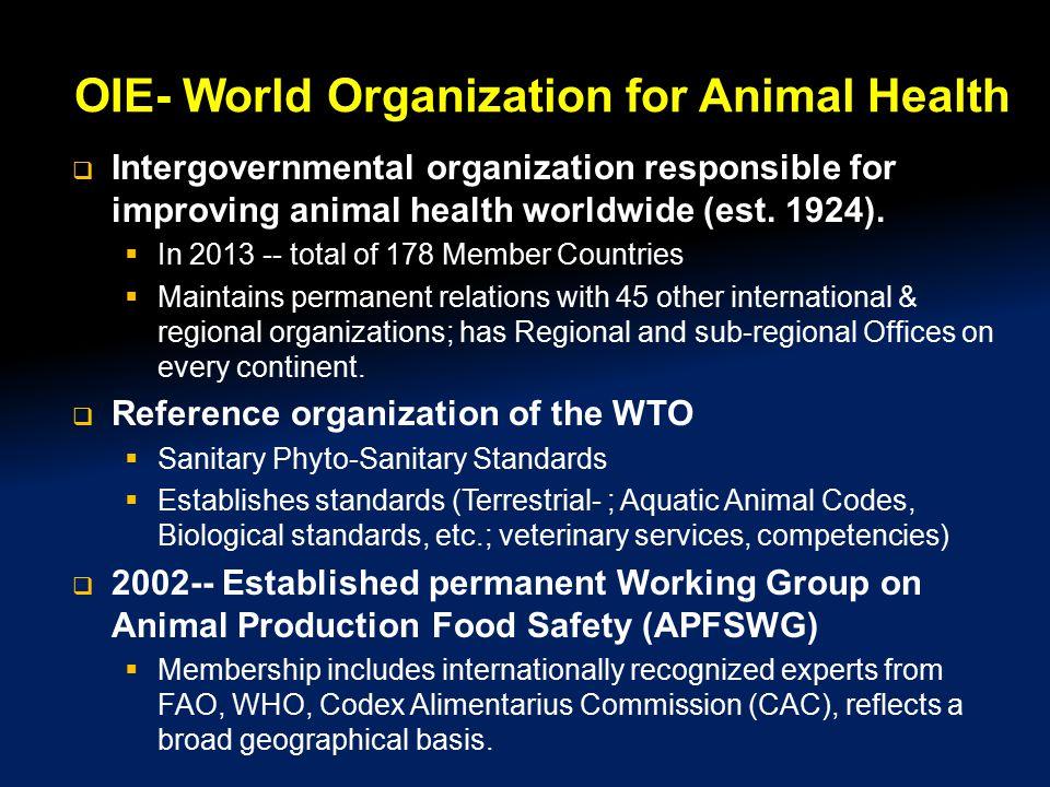 OIE- World Organization for Animal Health