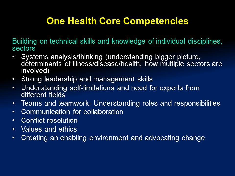 One Health Core Competencies