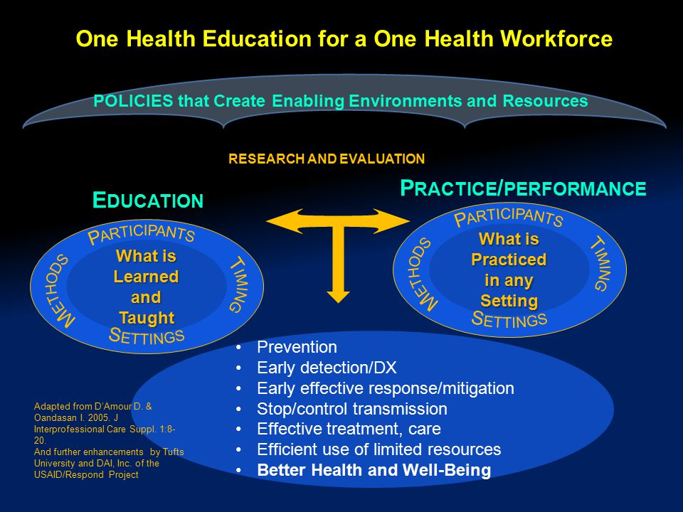 One Health Education for a One Health Workforce