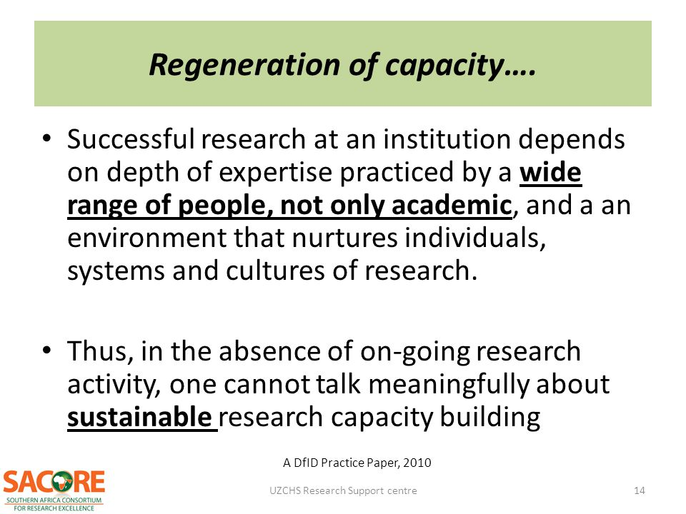 Regeneration of capacity….