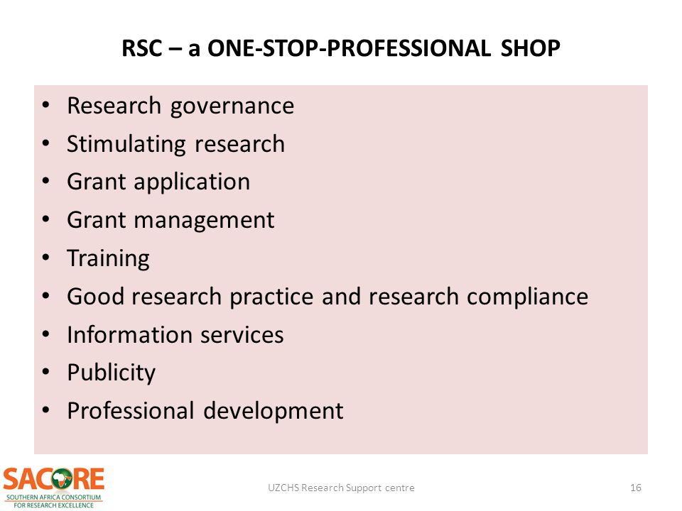 RSC – a ONE-STOP-PROFESSIONAL SHOP