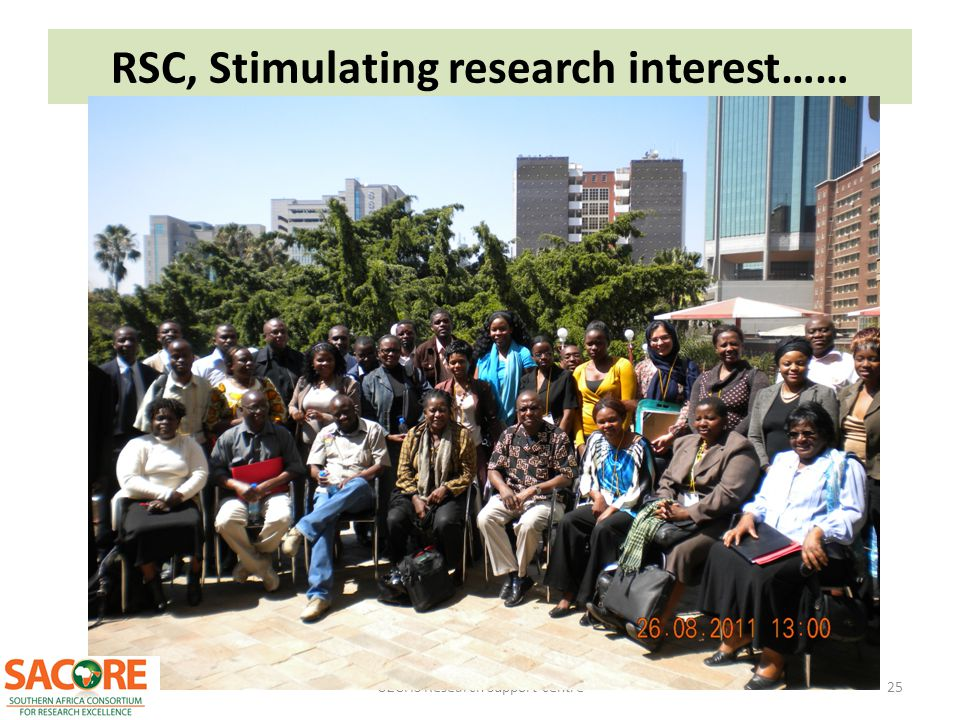 RSC, Stimulating research interest……