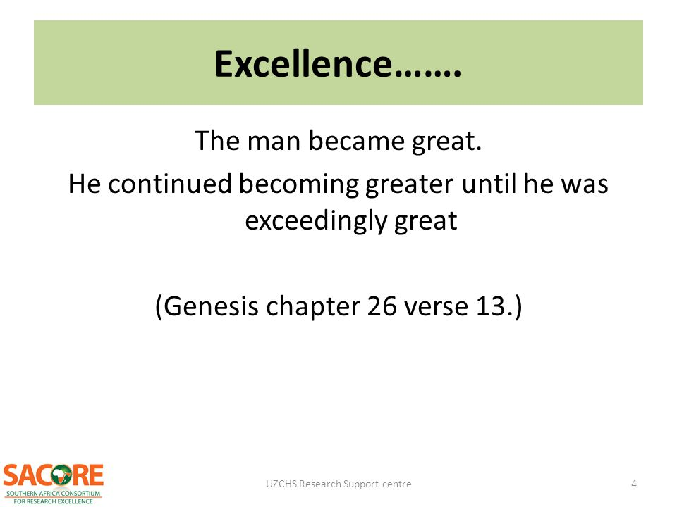 Excellence……. The man became great.