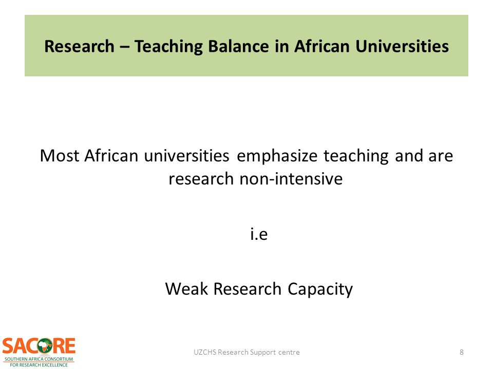 Research – Teaching Balance in African Universities