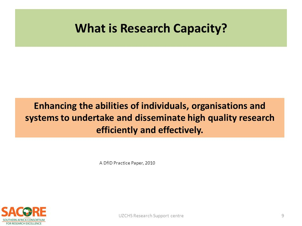 What is Research Capacity