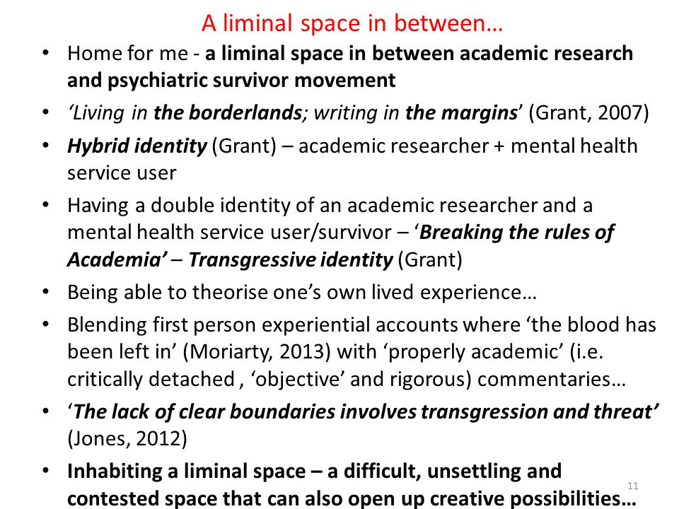 A liminal space in between…