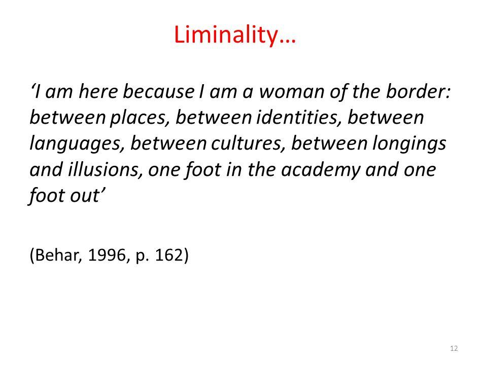 Liminality…