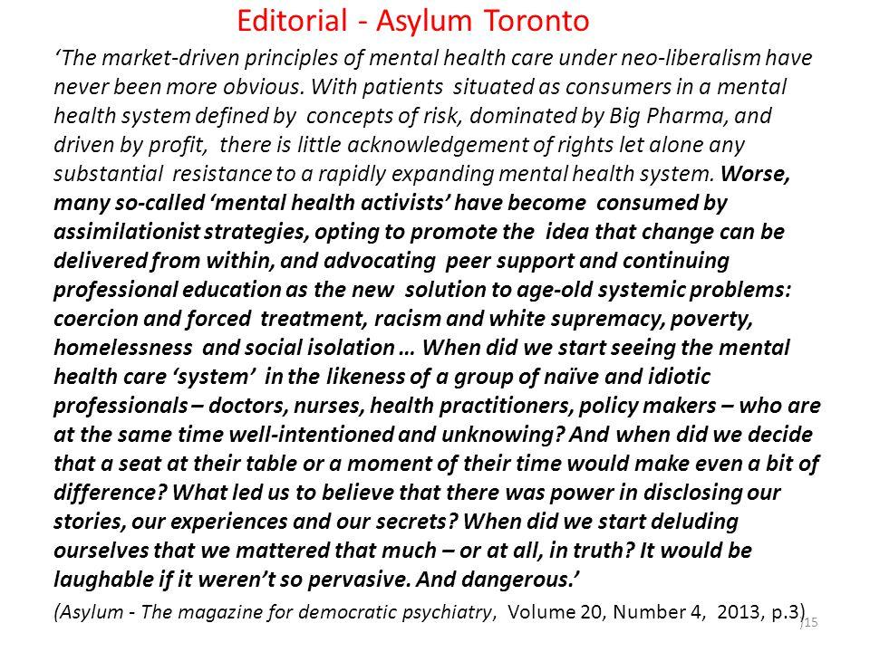 Editorial - Asylum Toronto