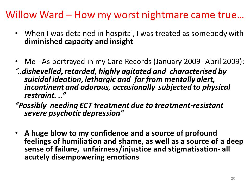 Willow Ward – How my worst nightmare came true…
