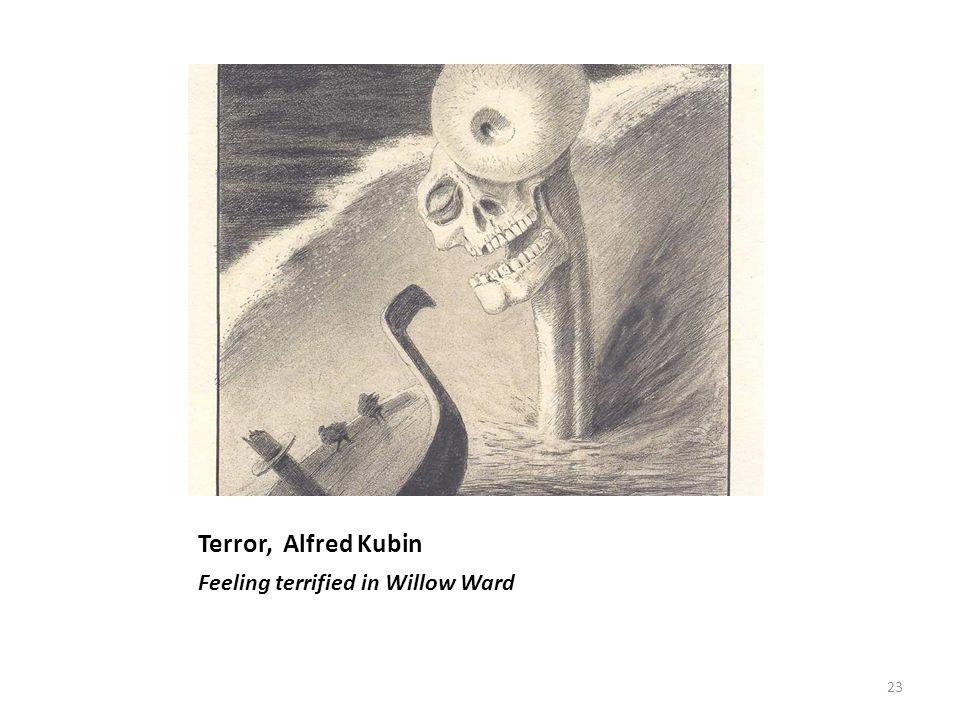 Terror, Alfred Kubin Feeling terrified in Willow Ward