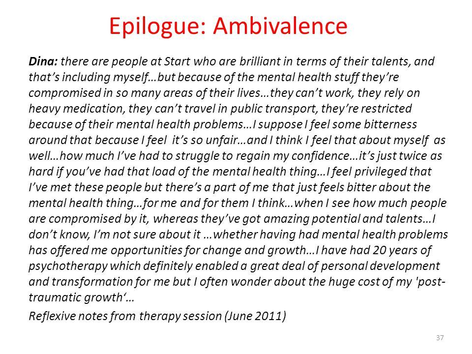 Epilogue: Ambivalence