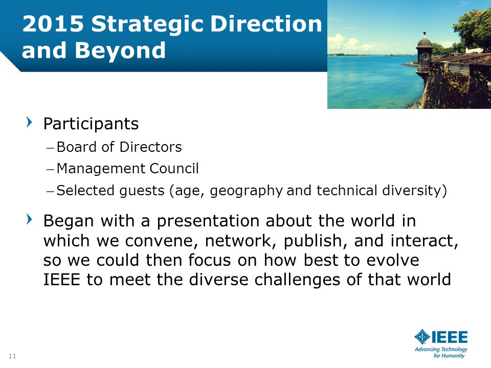 2015 Strategic Direction and Beyond