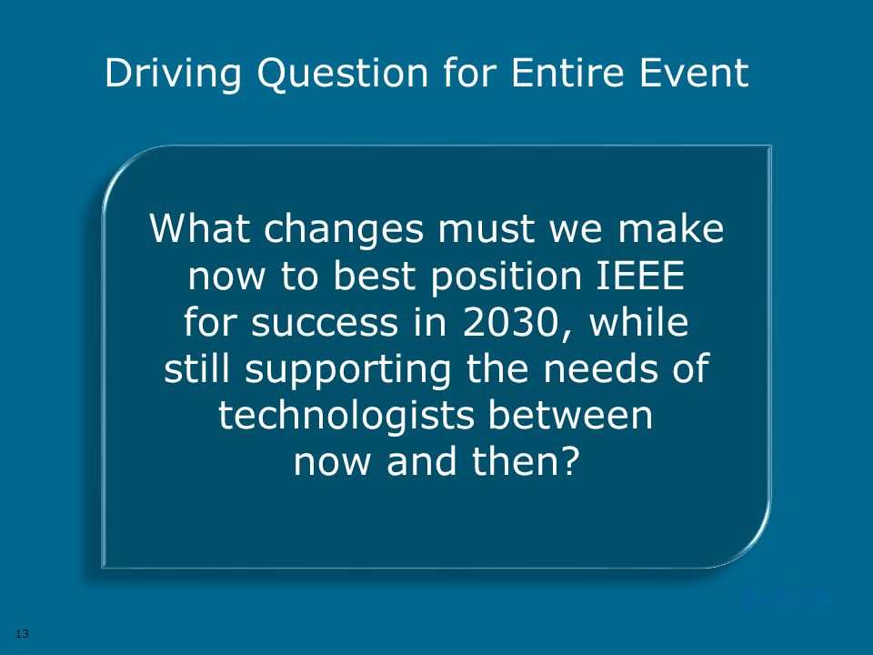 Driving Question for Entire Event