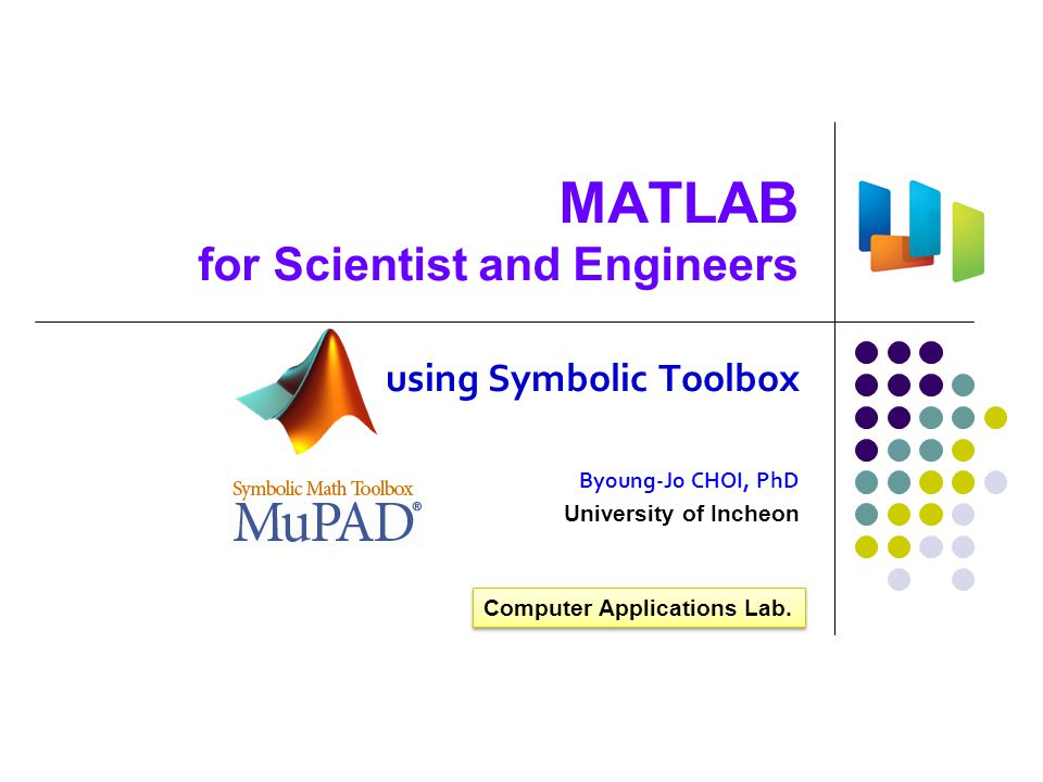 MATLAB for Scientist and Engineers
