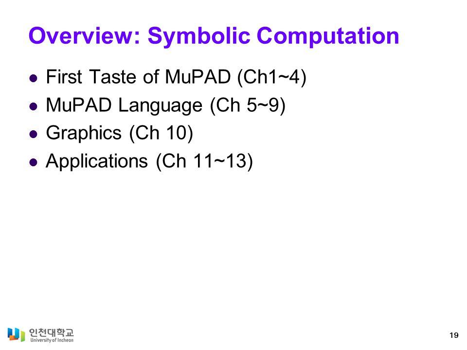 Overview: Symbolic Computation