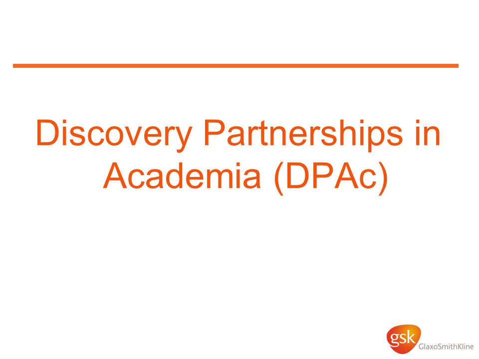 Discovery Partnerships in Academia (DPAc)
