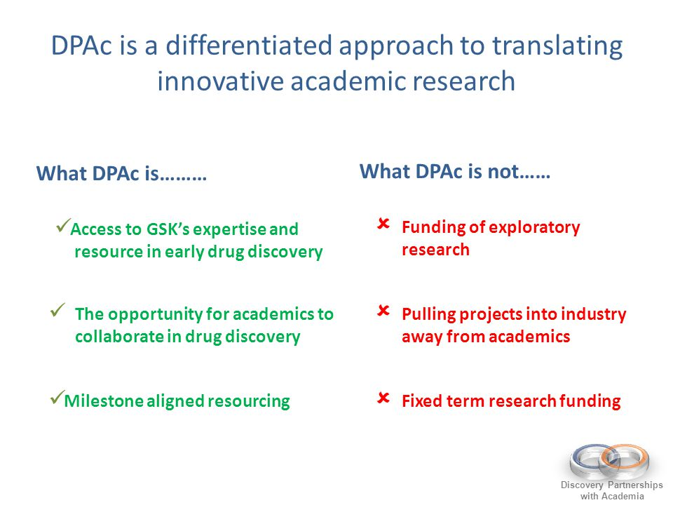 DPAc is a differentiated approach to translating innovative academic research