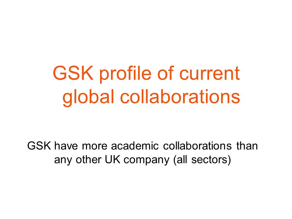 GSK profile of current global collaborations