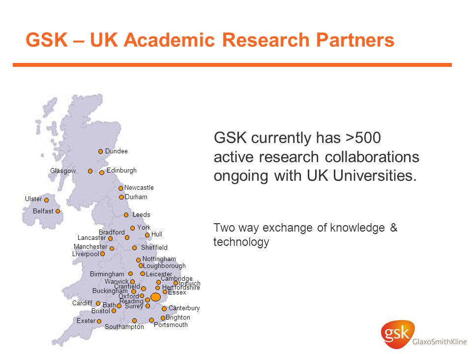 GSK – UK Academic Research Partners