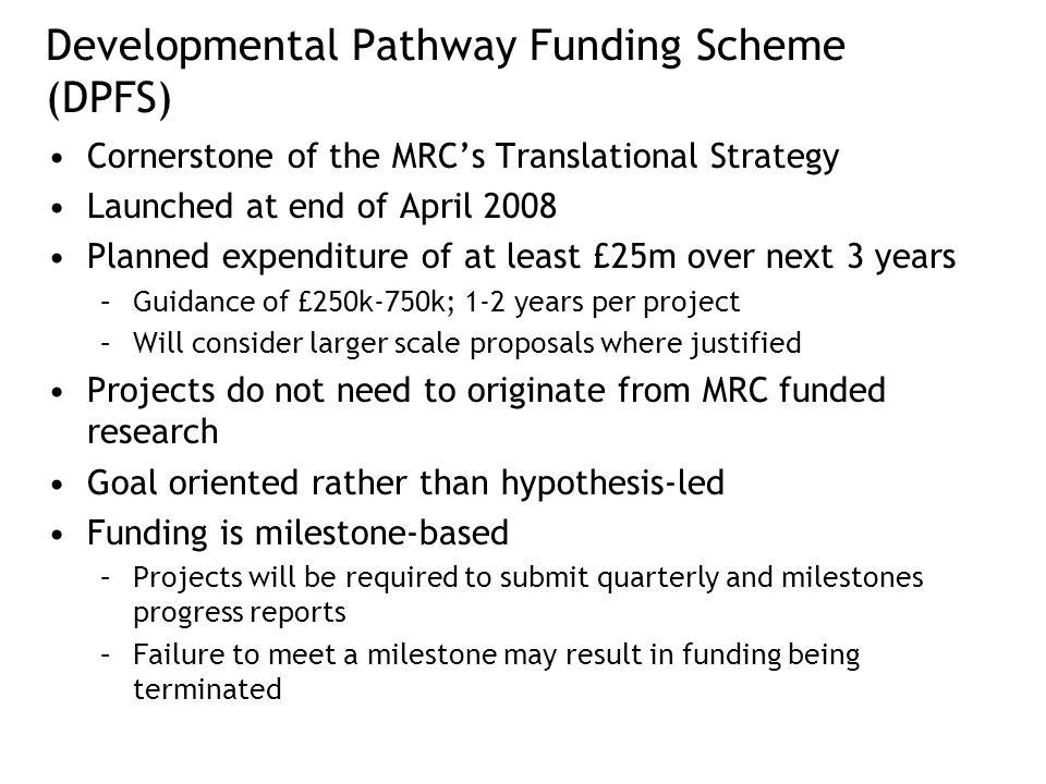 Developmental Pathway Funding Scheme (DPFS)