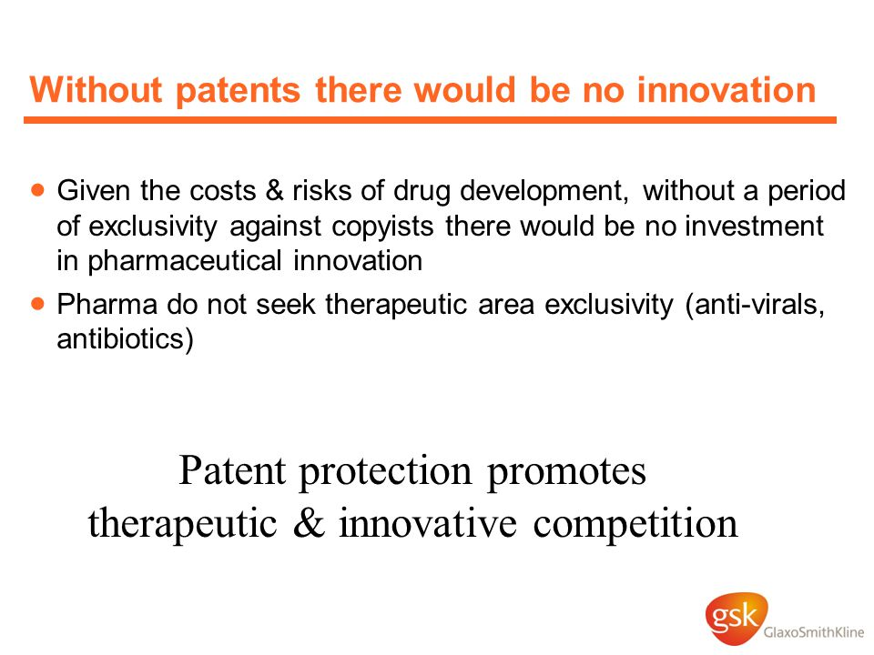 Without patents there would be no innovation