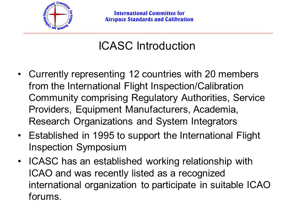 ICASC Introduction