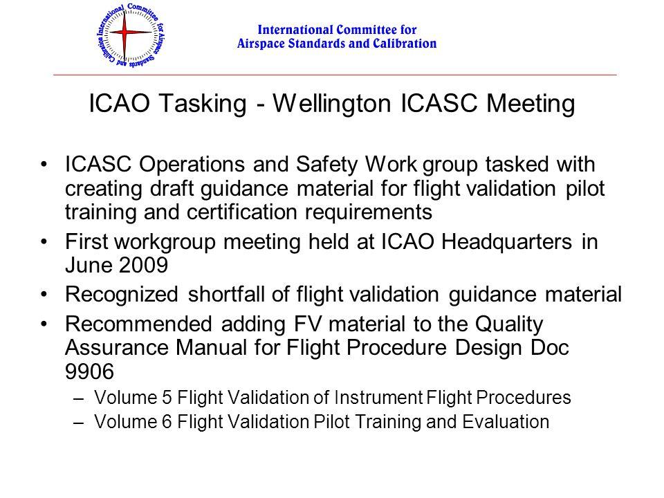 ICAO Tasking - Wellington ICASC Meeting