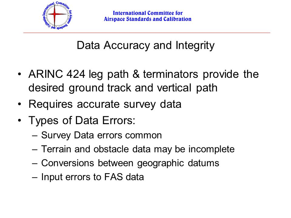 Data Accuracy and Integrity