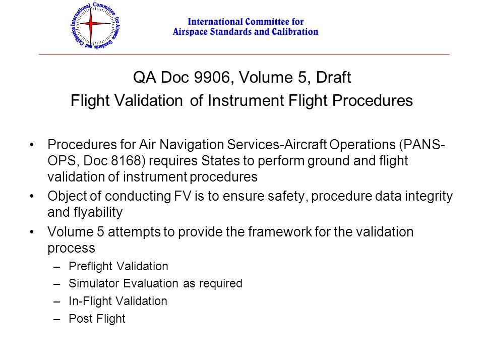 Flight Validation of Instrument Flight Procedures