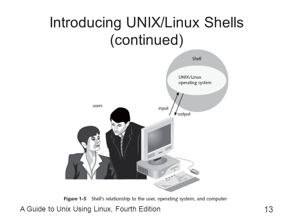 Introducing UNIX/Linux Shells (continued)