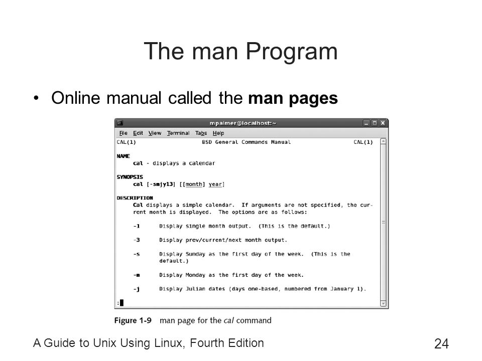 The man Program Online manual called the man pages