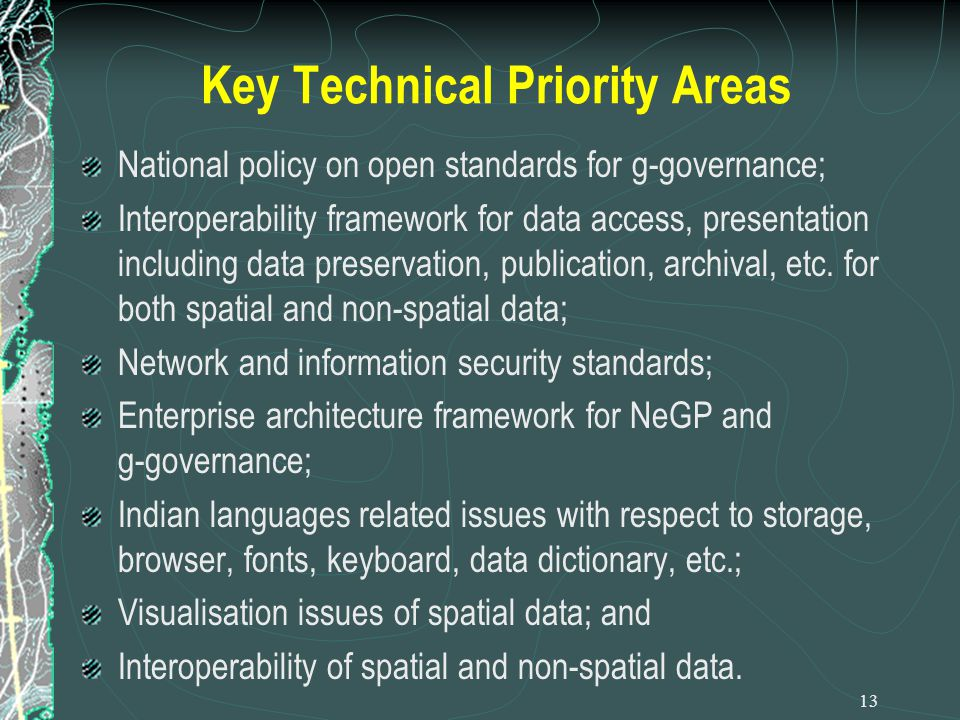 Key Technical Priority Areas