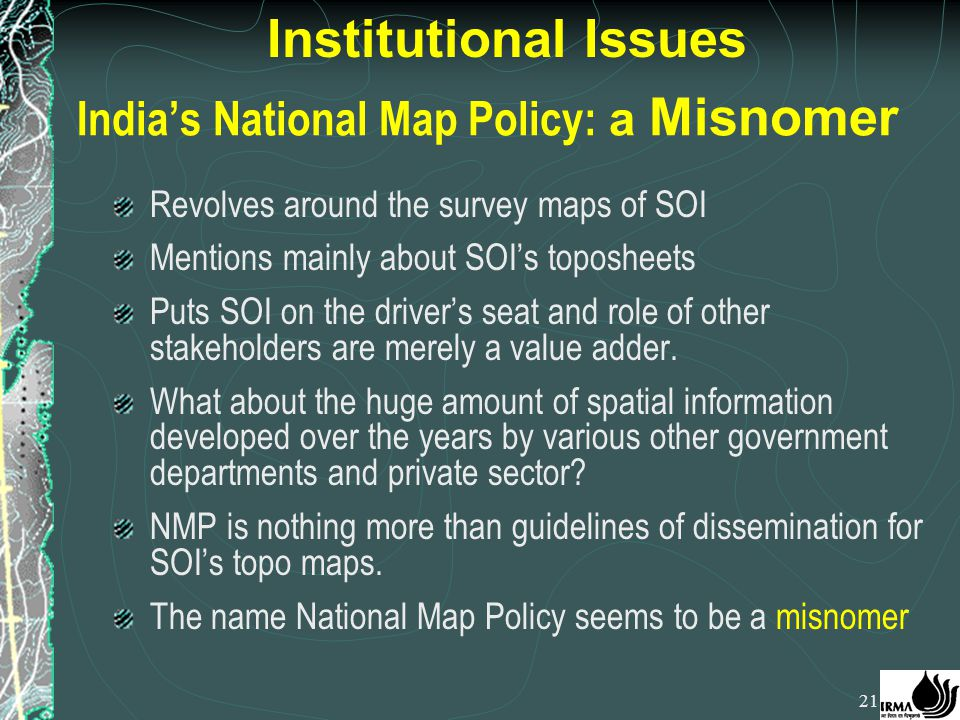 India's National Map Policy: a Misnomer
