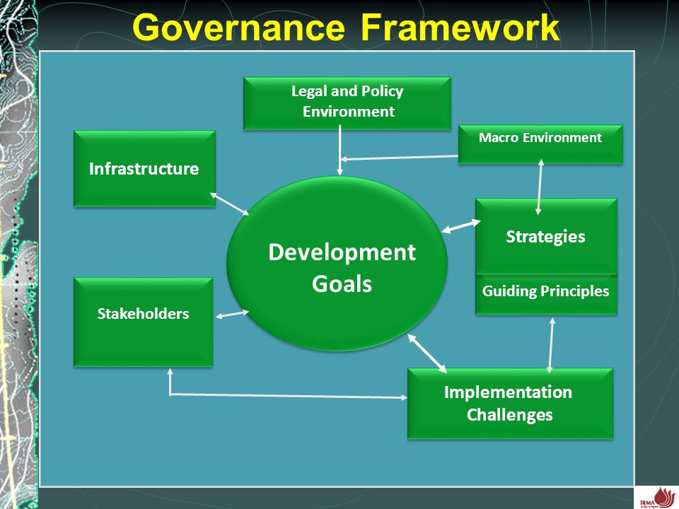Governance Framework Development Goals Infrastructure Strategies