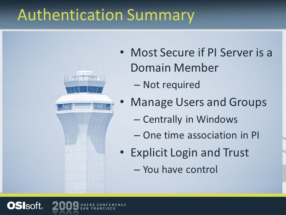 Authentication Summary