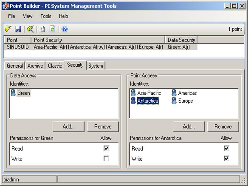 SMT 3.3 Point Builder – Security Dialog