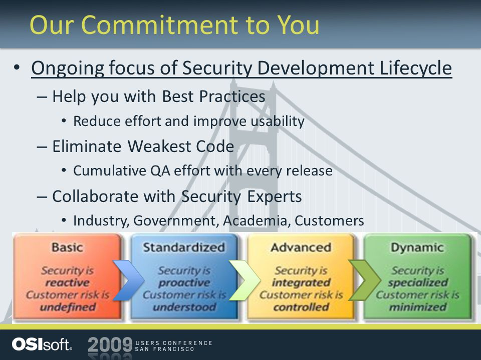 Our Commitment to You Ongoing focus of Security Development Lifecycle