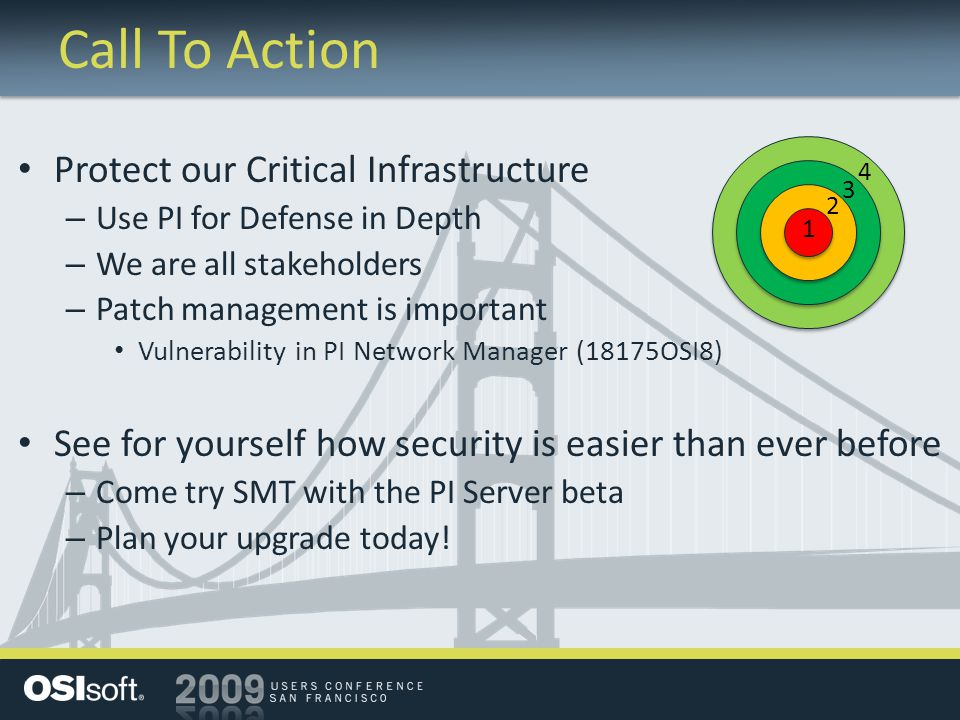 Call To Action Protect our Critical Infrastructure