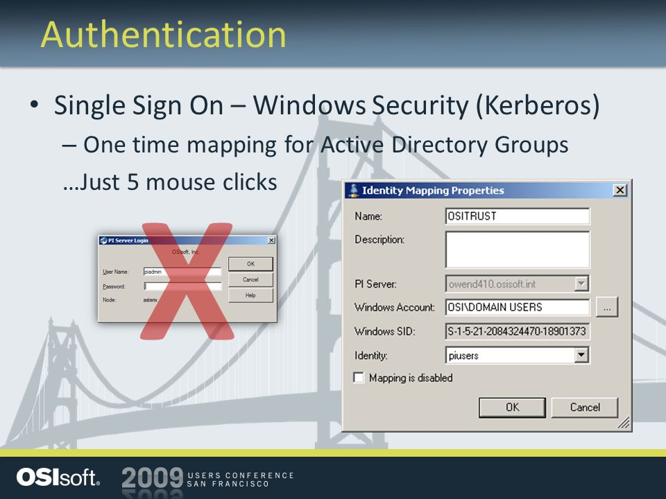 X Authentication Single Sign On – Windows Security (Kerberos)