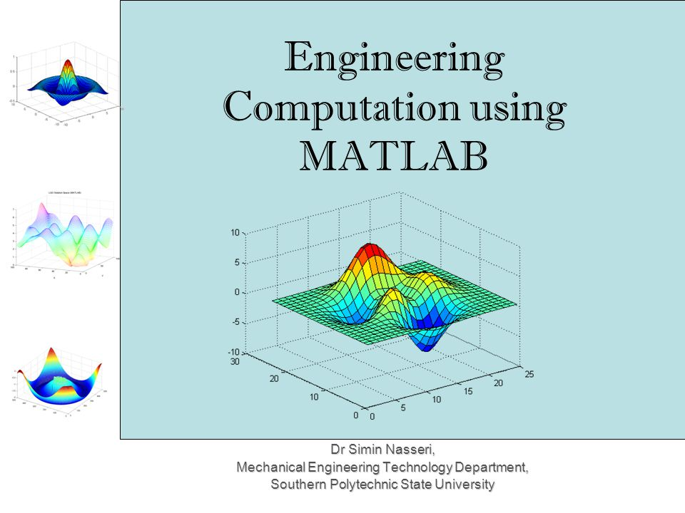 Engineering Computation using MATLAB