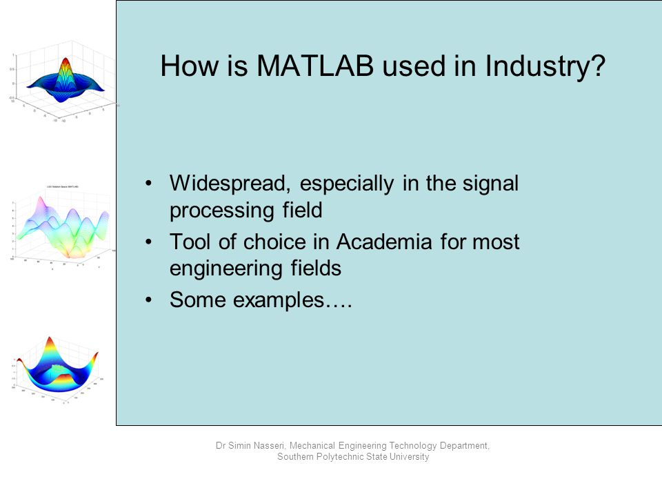 How is MATLAB used in Industry