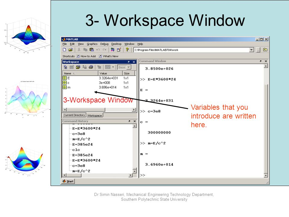 3- Workspace Window 3-Workspace Window