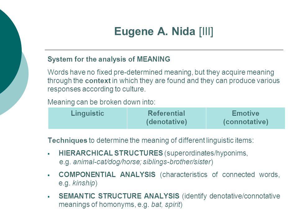 Referential (denotative) Emotive (connotative)