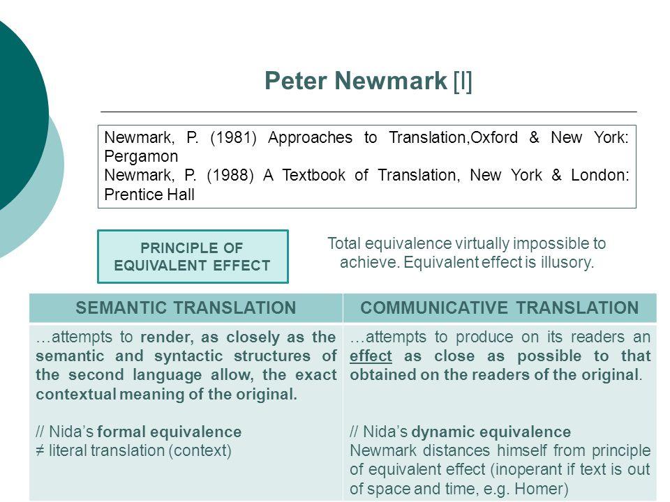 COMMUNICATIVE TRANSLATION